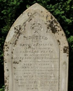 Photograph Mary Ann Cameron Gravestone Scotland